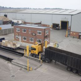 Our skip hire facility from above